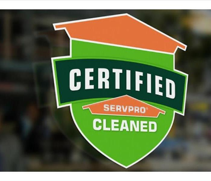 Certified: SERVPRO Cleaned.